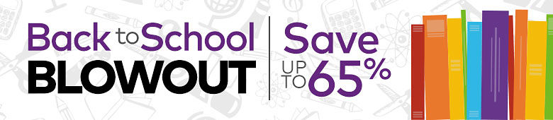 Back to School Blowout - Save up to 65%
