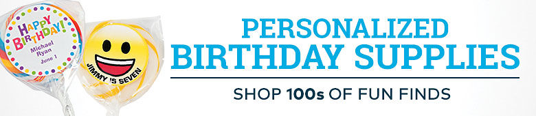 Personalized Birthday Supplies ¿ Shop 100s of Fun Finds