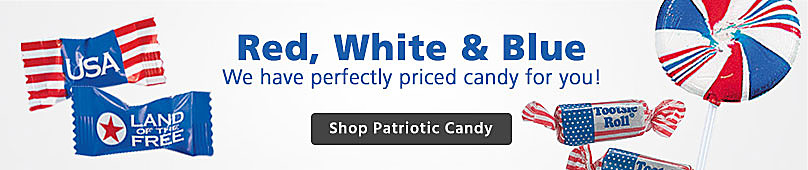 Red white and blue shop patriotic candy