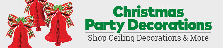 Christmas Party Decorations. Shop ceiling decorations and more.