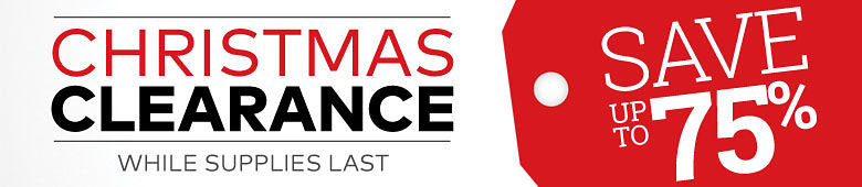 Christmas Clearance ? Save up to 75%
