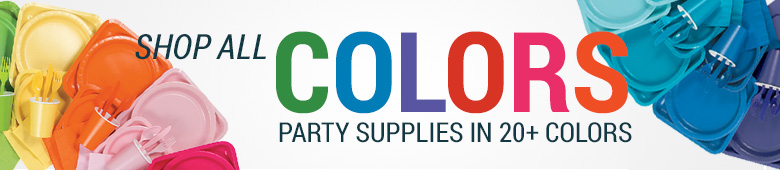 Solid Color Party Supplies