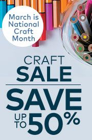 Craft Sale - Save up to 50%!