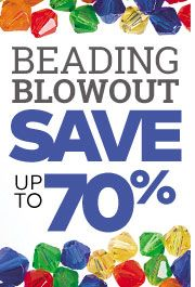 Beading Sale - Save up to 70%!