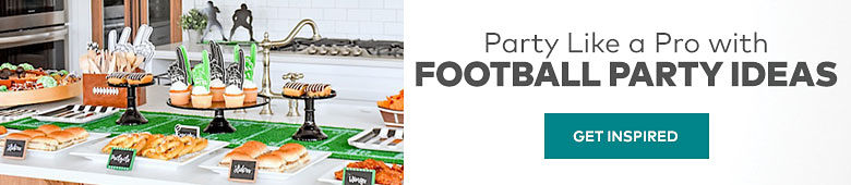 Party like a pro with football party ideas. Get inspired