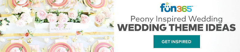 Fun365 - Peony Inspired Wedding - Wedding Theme Ideas - Get Inspired