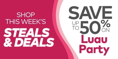 Shop this week's steals & deals. Save up to 50% on luau party