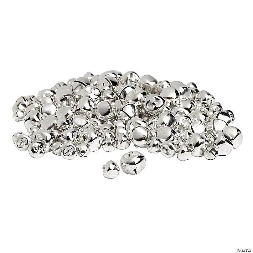 Silvertone Metal Miniature Jingle Bells 6mm lot of 4 Dozen