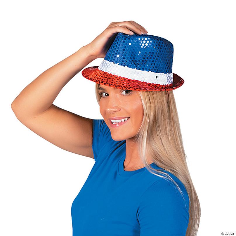 Celebrate Patriotic Adult Unisex Light Up Fedora Hat New