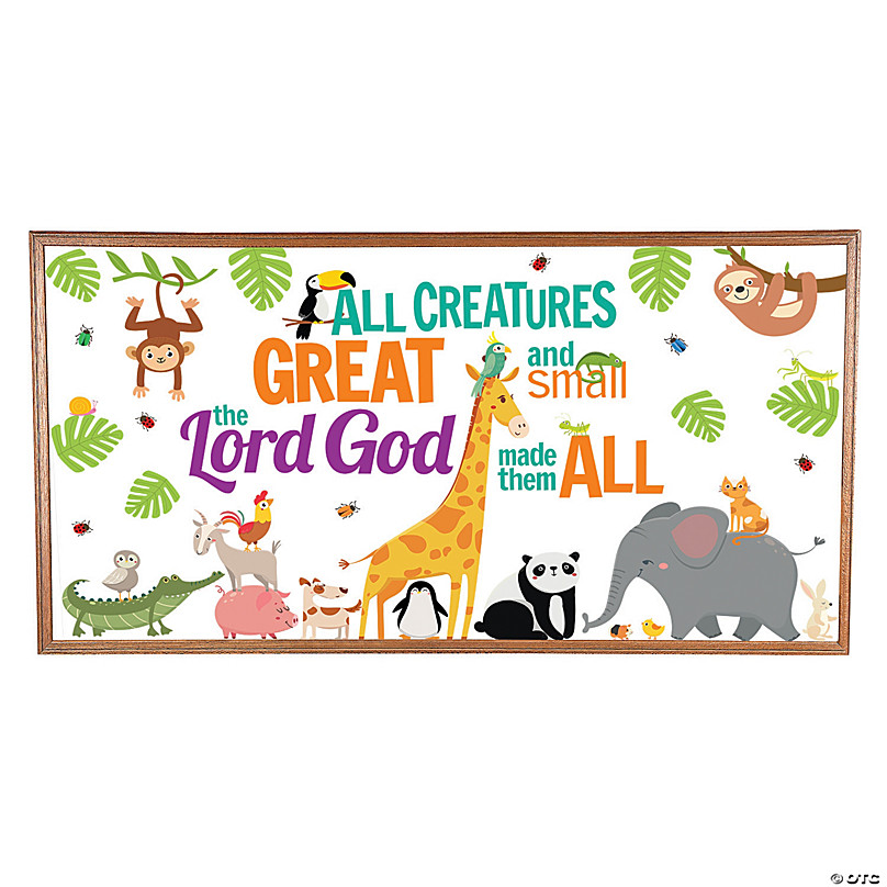 All Creatures Big Small Bulletin Board Set Oriental Trading