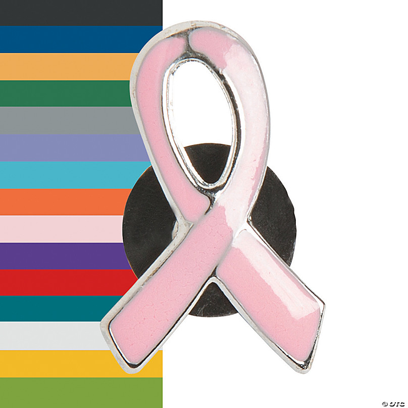 Ideal for Funerals.CHOOSE 10 Cancer Awareness Ribbons with Safety Pins Bulk Buy