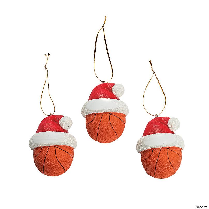 Christmas Gift Under 10.00 Basketball Christmas Ornament Christmas Ornaments Sports Christmas Ornaments Kids Christmas Ornament