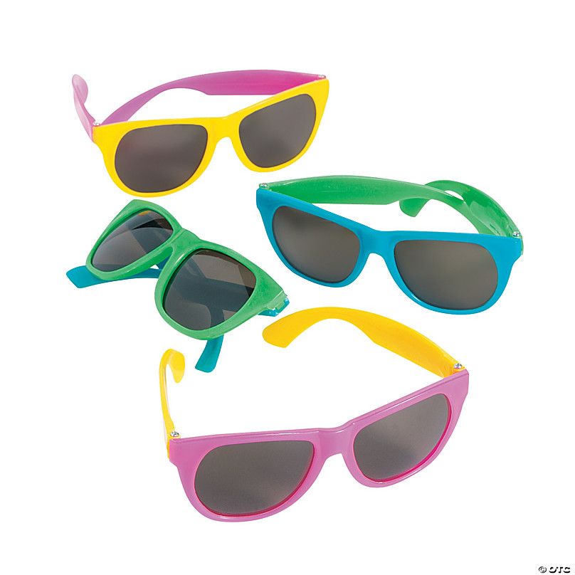 Halloween Christmas Gift Yellow Pink cool retro style 80/'s sunglasses 6 colours