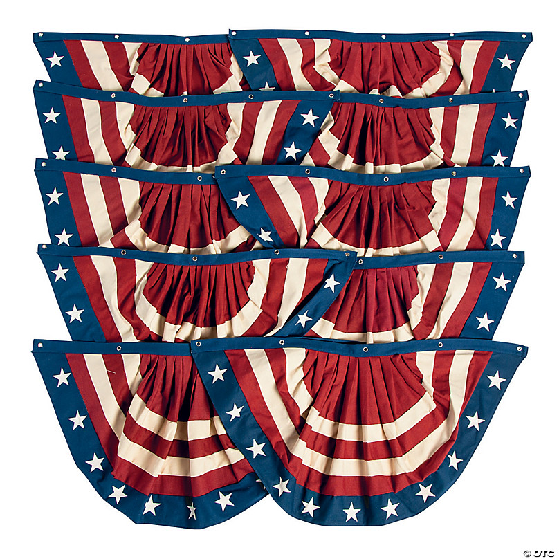 CLEARANCE USA 4th July Fabric Pennant Bunting