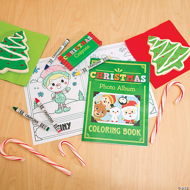 Christmas Coloring Books With Crayons Oriental Trading