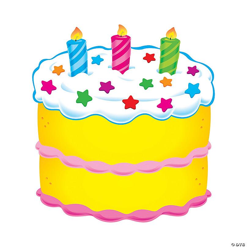 Prime Classic Accents Birthday Cake Bulletin Board Cutouts Oriental Personalised Birthday Cards Veneteletsinfo