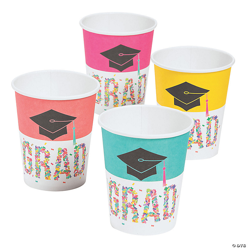Size 20 Oz Drink Cups 25 Red Congrats Graduation Cups