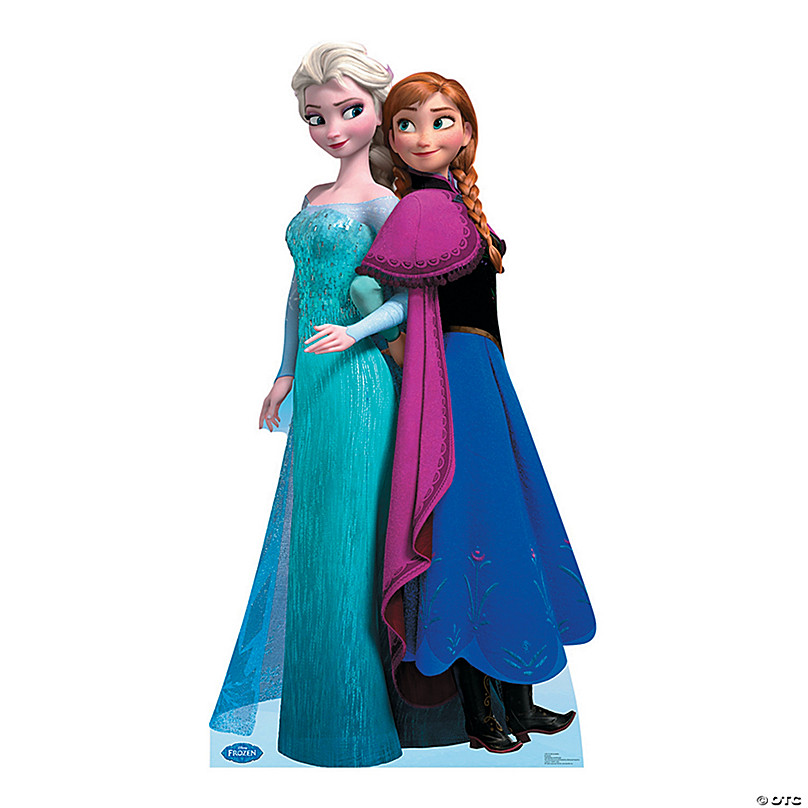 Disney Frozen Elsa Anna Cardboard Stand Up Oriental Trading