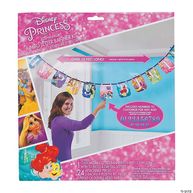 Personalised Princess Birthday Banners Option 3