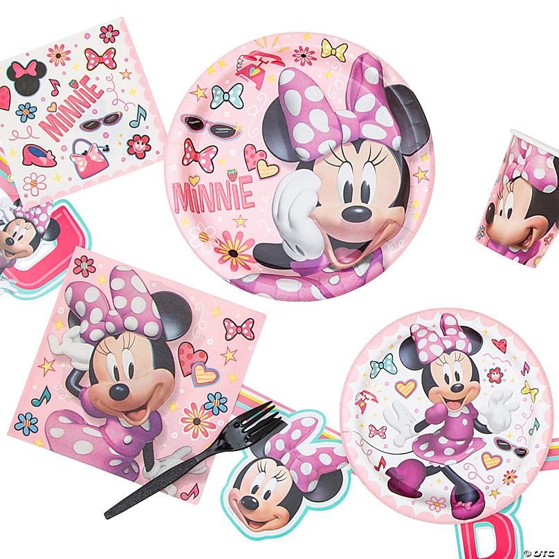 Disney minnie mouse child birthday party range tableware supplies decoration