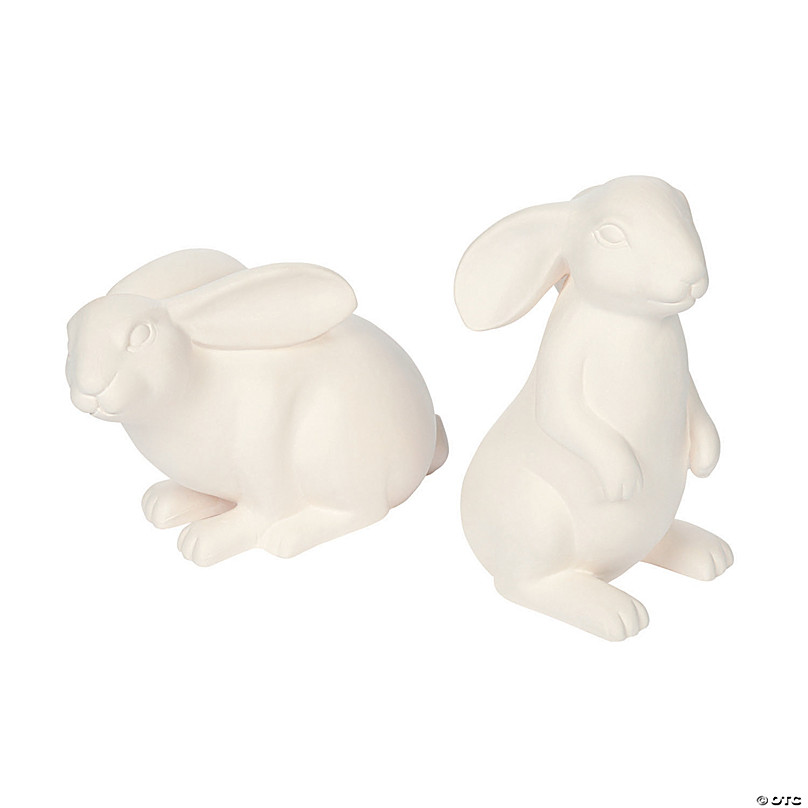 Ceramic Easter bunny rabbit bead