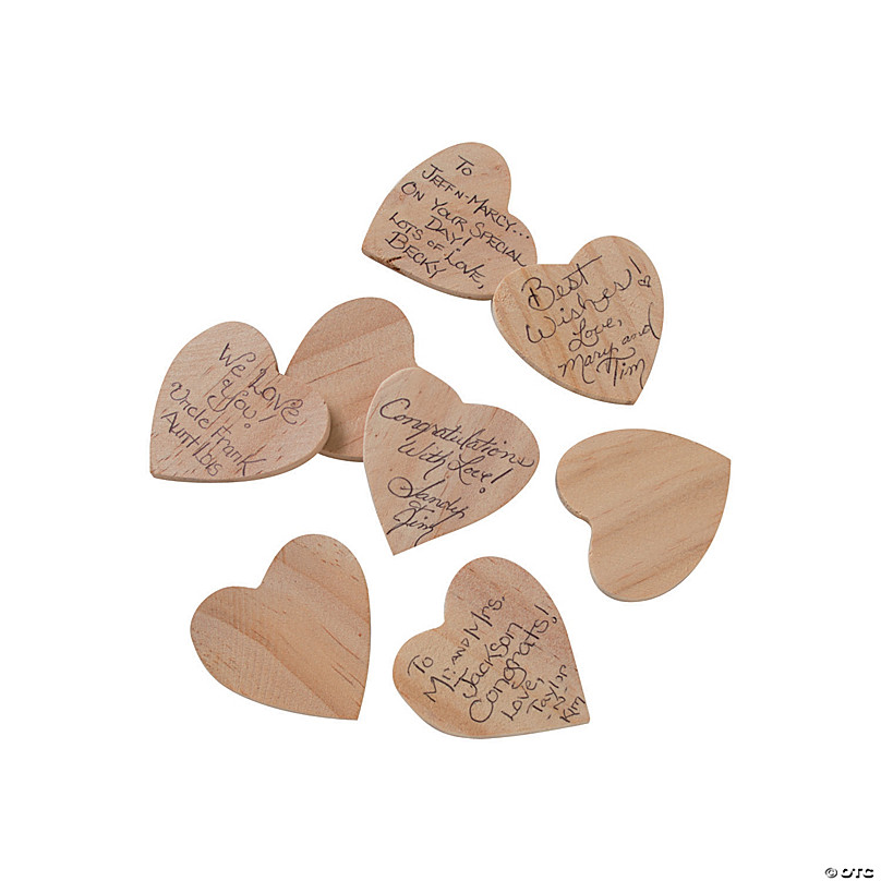 Mu Mianhua 20 pcs Wooden Hearts Embellishments 10 x 10cm Natural Unfinished Rustic Love Tags Decoration for Valentines Day Wedding Parties Anniversaries Personalised Gifts Arts and Crafts