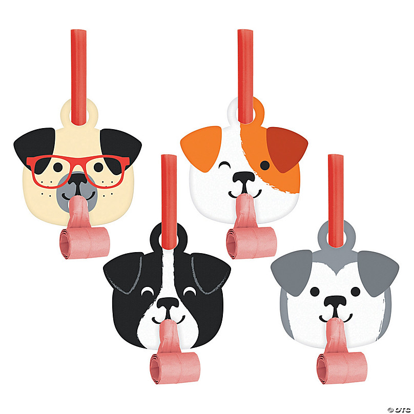 8 Pieces Party Supplies Dog Party Blowouts