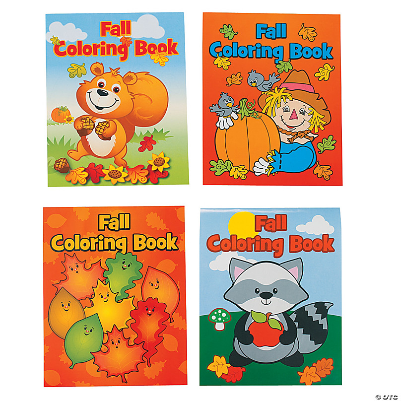 Fall Coloring Books Oriental Trading