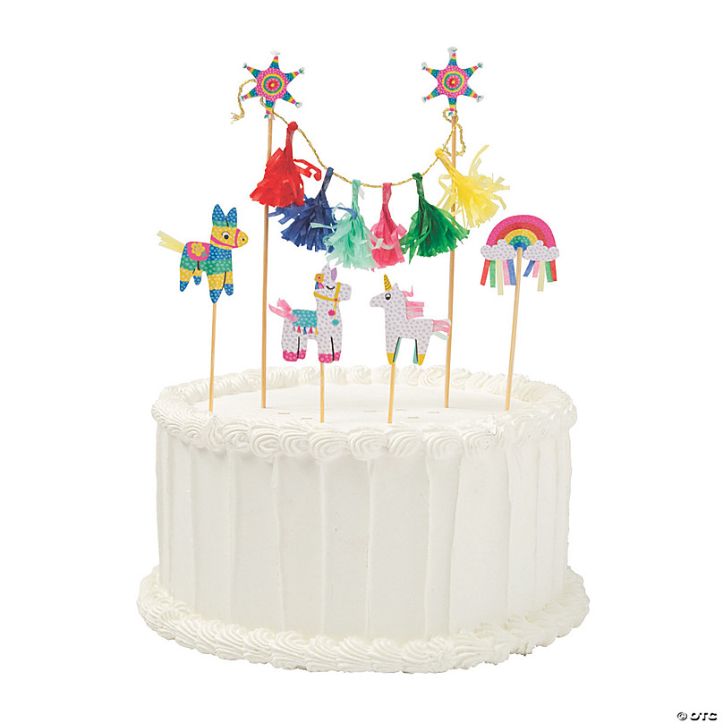 Excellent Fiesta Banner Cake Toppers Oriental Trading Funny Birthday Cards Online Elaedamsfinfo