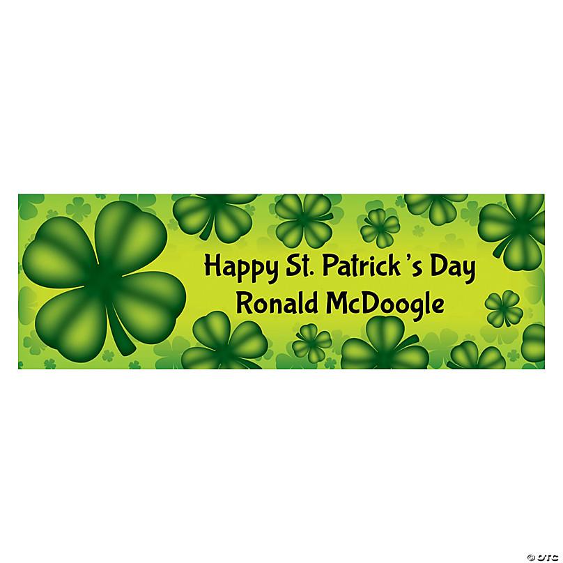 St Patrick/'s Day Clover Banner