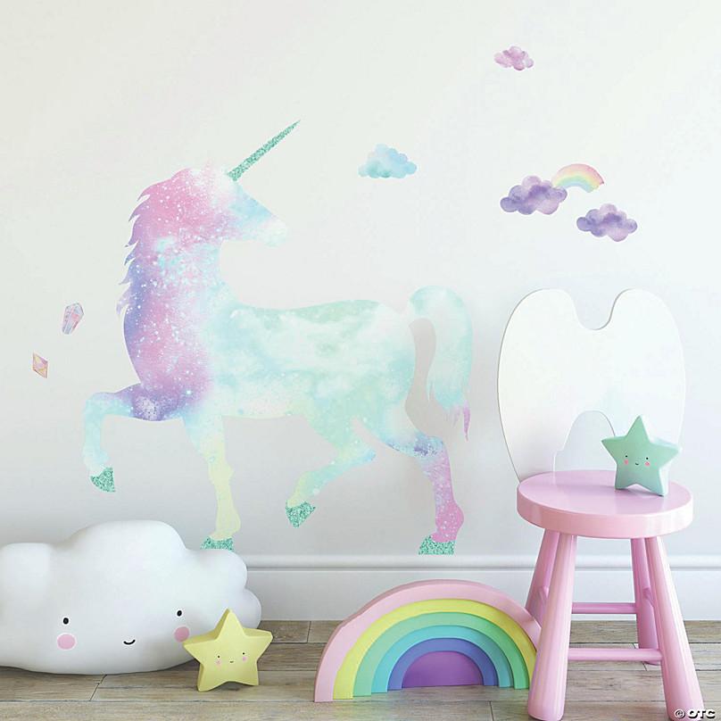 Galaxy Unicorn Peel Stick Giant Decal Glitter Oriental Trading