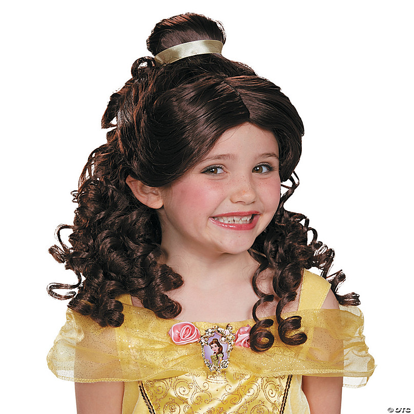 Adult/'s Ultra Prestige Disney Princess Belle Brown Wig Costume Accessory