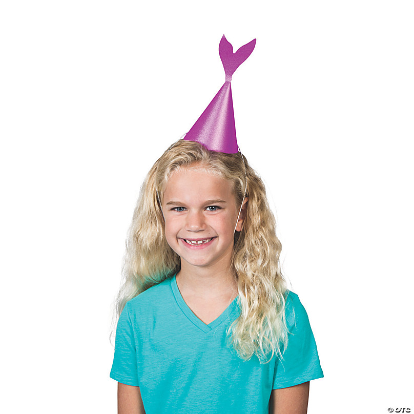 Glitter Mermaid Tail Party Hats Girlfriends Birthday Party Hat Fashion Funny//s