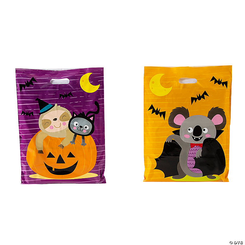 12 Goofy Ghouls Birthday Party Favor Treat Cello Bags Halloween Vampire Bats