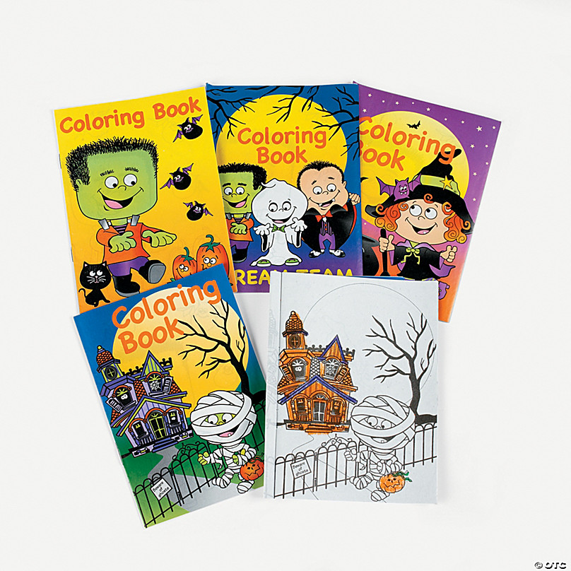 Halloween Coloring Books Oriental Trading