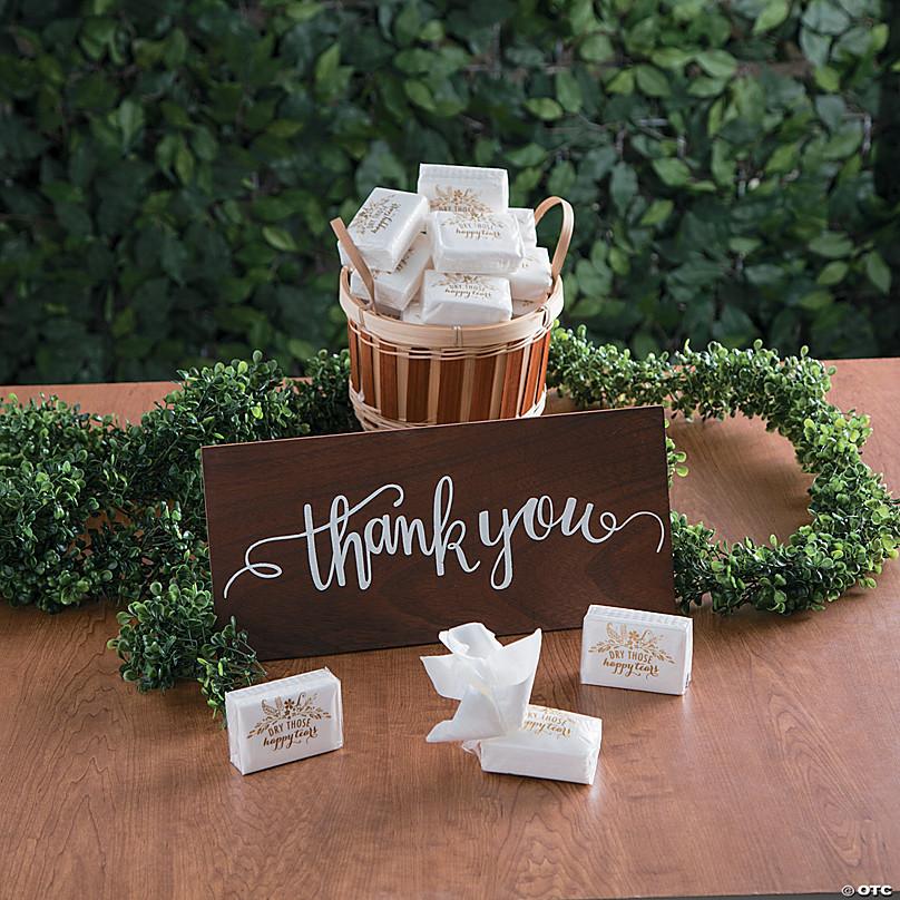 Wedding tissues Happy tears tissues Wedding Favors Wedding tissue pack Happy Tears tissue pack Happy Tears tags Tears of Joy tissue