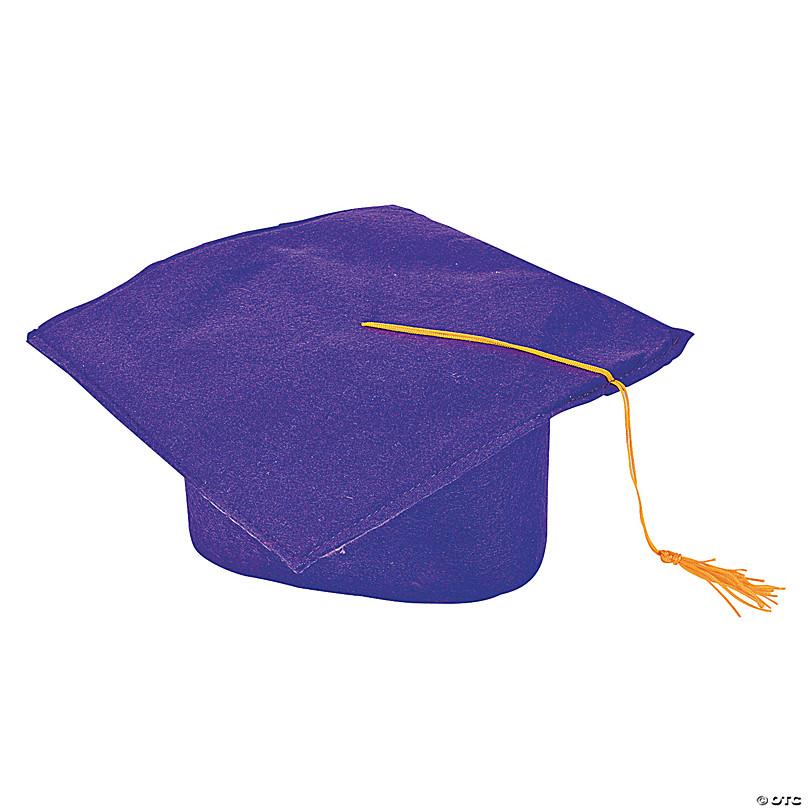 Childrens Mortarboard Graduation Kids Nursery Black Cap Hat 3-8 Gown Accessory
