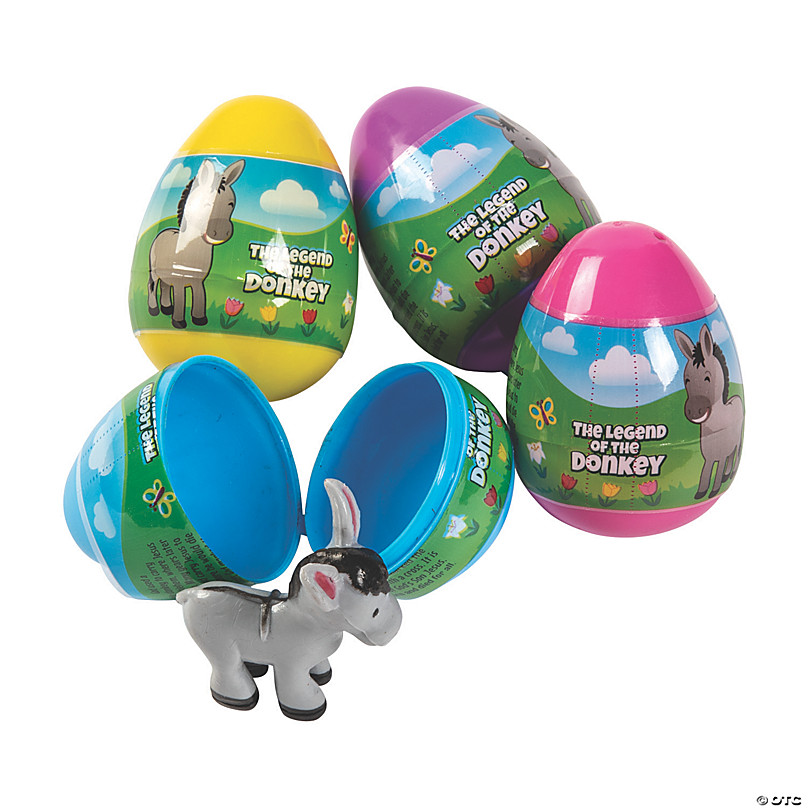 2 Dozen Colorful Surprise Plastic Eggs Filled w Small Fun Toys Easter Egg Hunt