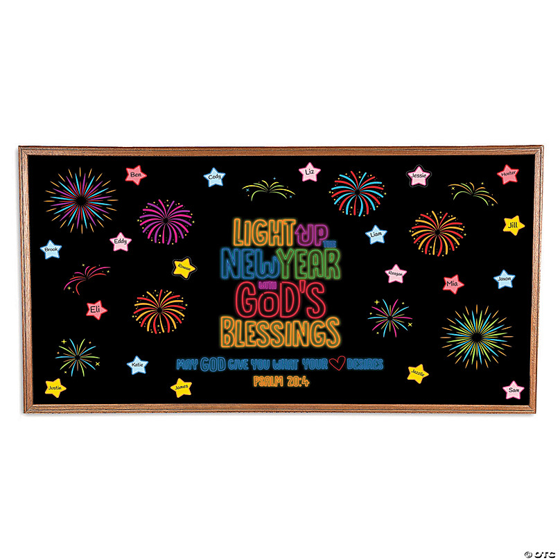 Let Your Light Shine In The New Year Bulletin Board Set Oriental Trading