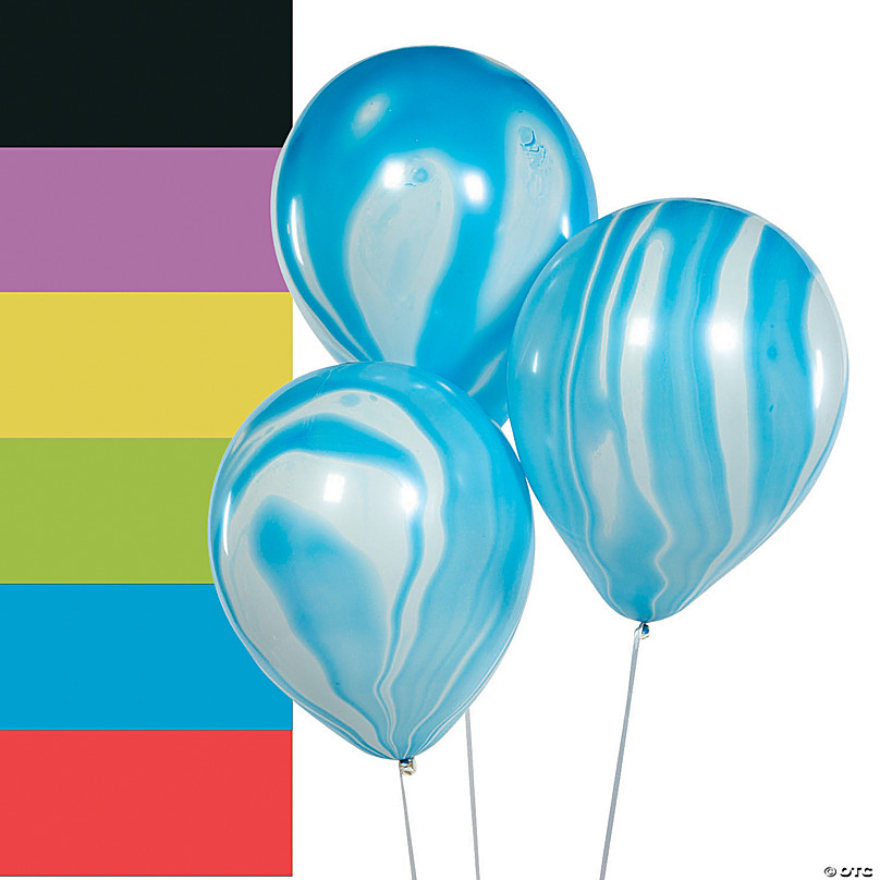 16 Pack of Latex Balloons 8 Baby Blue /& 8 Brown