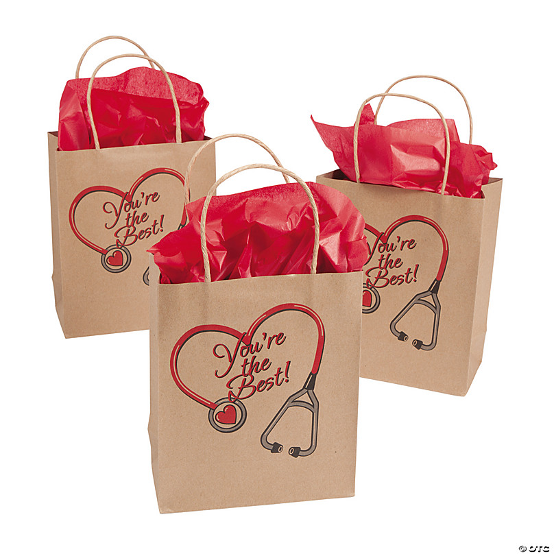 Cooraby 12 Pieces Candy Boxes Paper Party Bag with Heart Display Window Kraft Gift Bags Packaging Boxes for Valentines Day Birthday Party Decorations