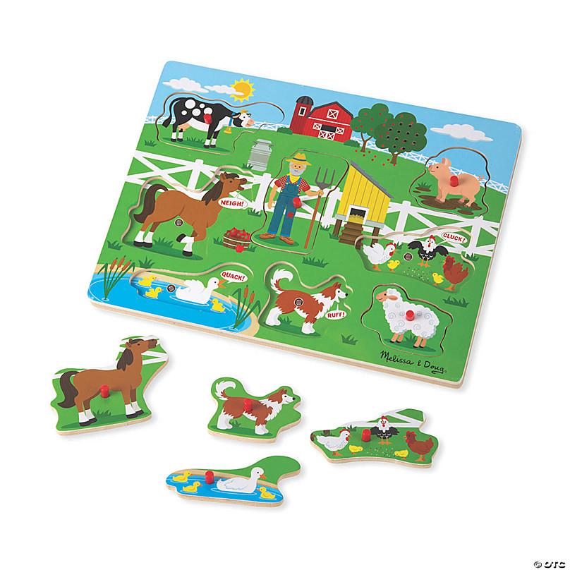 Meliss And Doug Christmas 2020 Melissa & Doug Old MacDonald's Farm Sound Jigsaw Puzzle, 9 Pcs