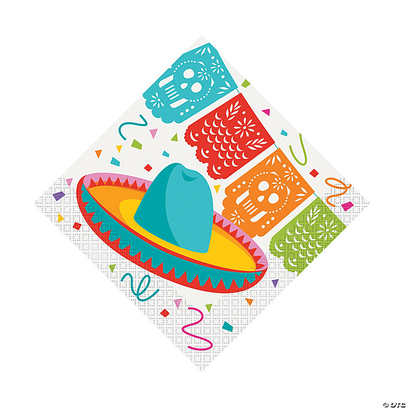 100 Fiesta Napkins Mexican Fiesta Luncheon Napkins Colorful Beverage Napkins Party Napkins Custom Personalized Napkins LOTS of COLORS!