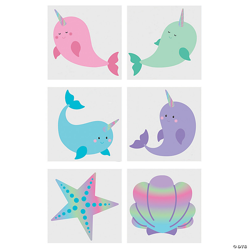 72 Dolphin Party Tattoos Favors Prizes Birthday Event Deep Sea Life Ocean Water