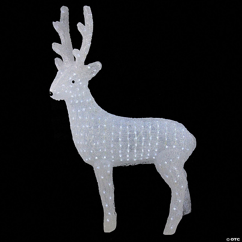Northlight 41 Lighted Commercial Grade Acrylic Reindeer Christmas Outdoor Decoration