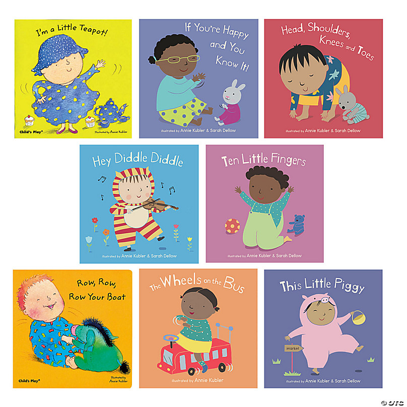 Nursery Rhyme Board Book Set Of 8 With
