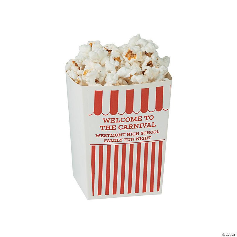 Personalized Carnival Mini Popcorn Boxes Oriental Trading