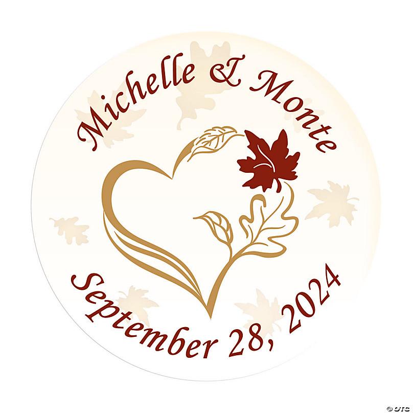 Elegant Personalized ROUND wedding label We Print Any Design you Wish To use in wedding favor Wedding Invitation envelope seal