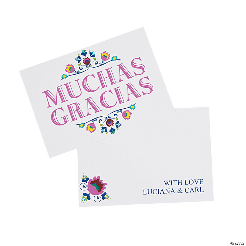 Personalized Fiesta Thank You Cards Oriental Trading