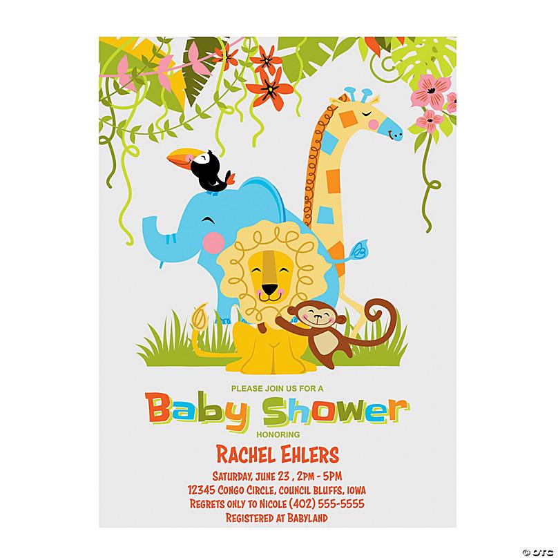 Jungle Baby Shower Invitations